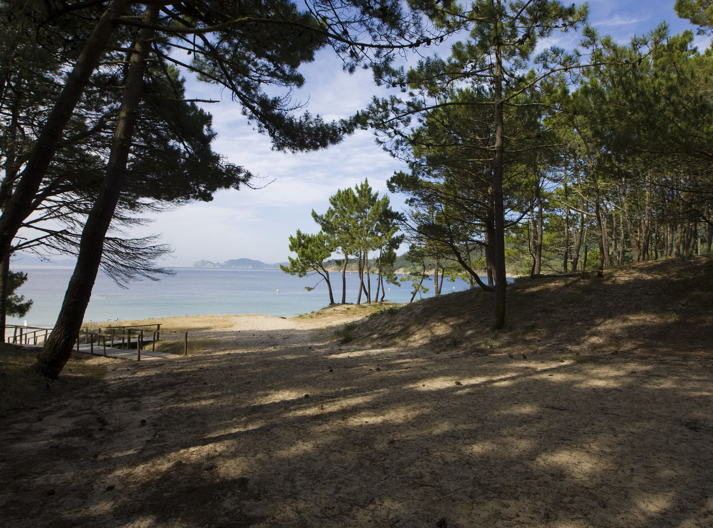Barra Beach in Aldán, Galicia, Spain